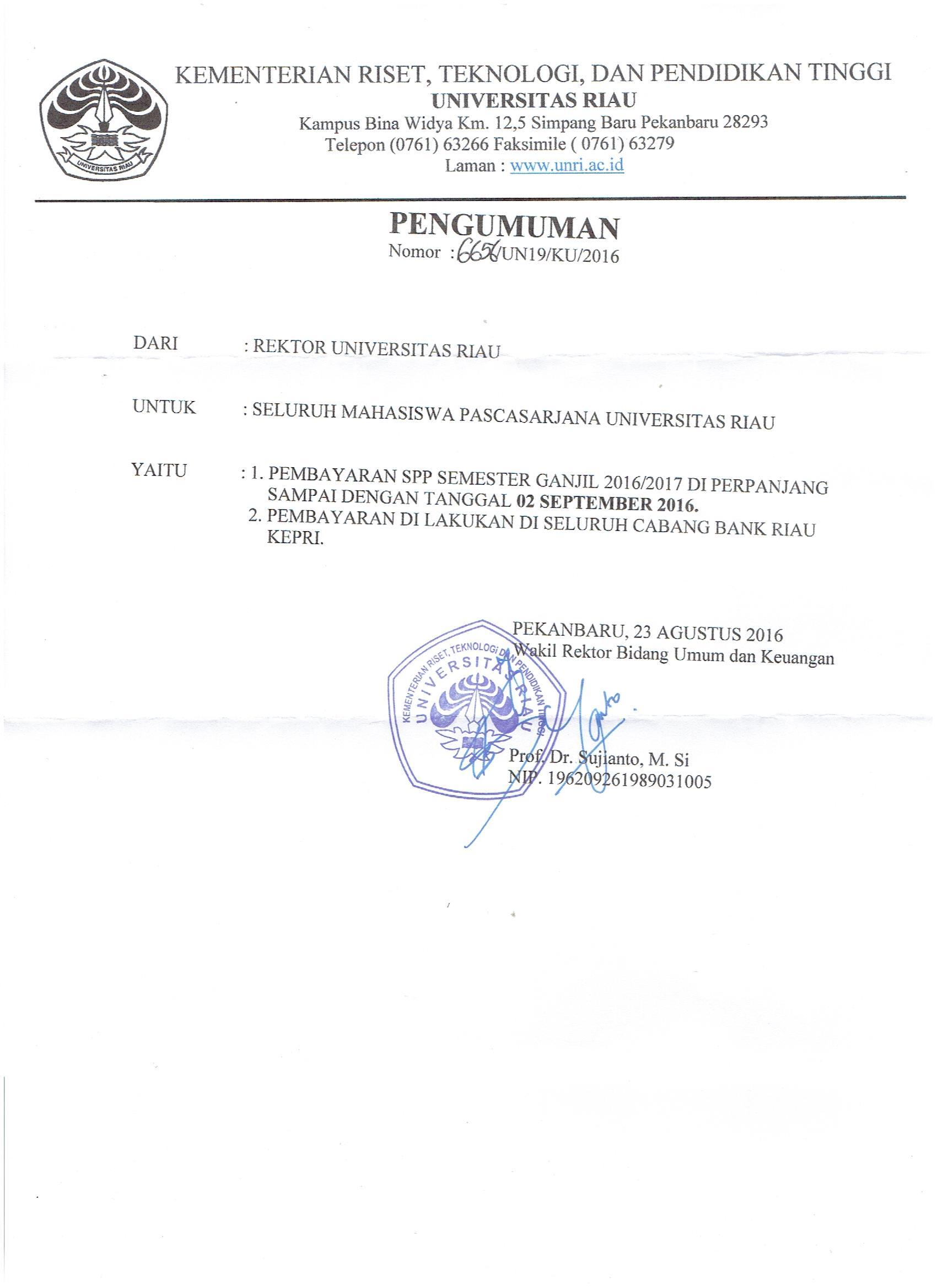 surat perpanjangan spp pasca