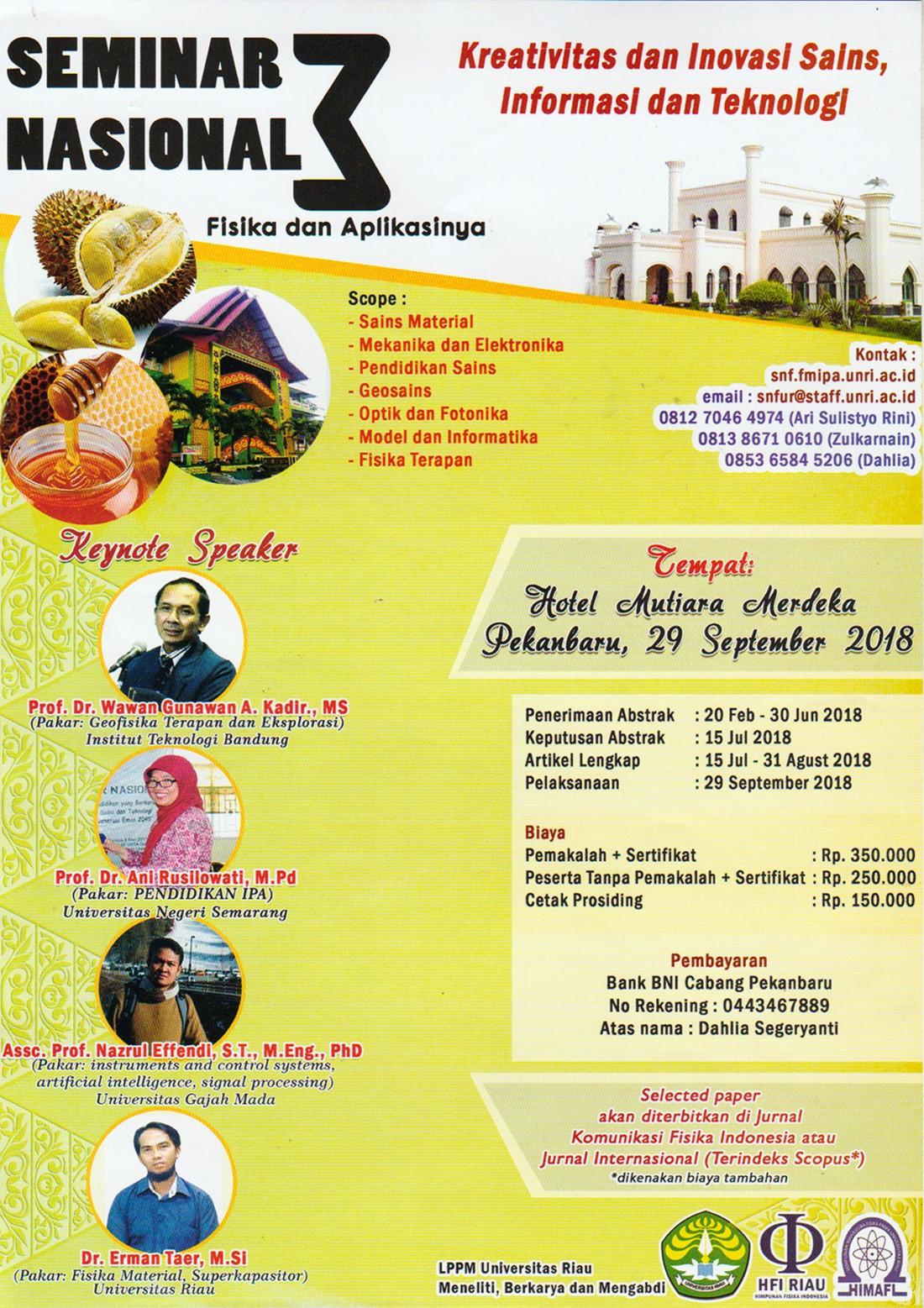 Seminar Nasional Fisika (sampai 29 september 2018)
