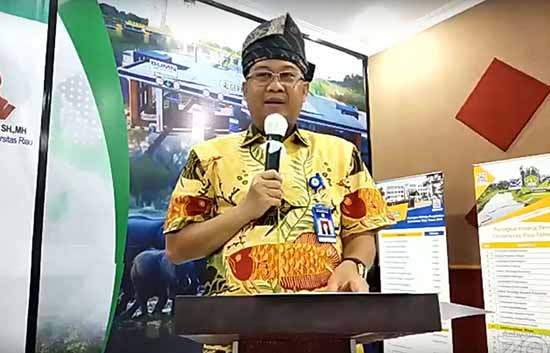 ketua panitia kegiatan Dr Arifuddin MP (Sumber: HUMAS Universitas Riau)
