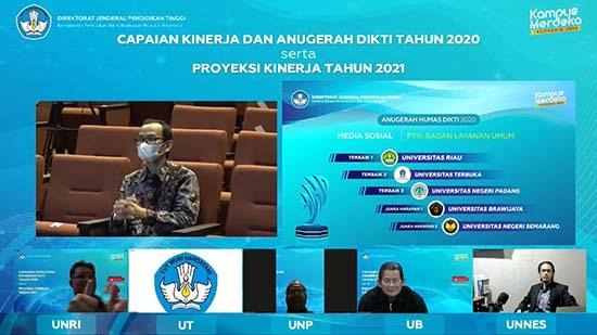 Perguruan Tinggi Harus Bisa Menjadi Mata Air Bagi Masyarakat (Sumber: HUMAS Universitas Riau)