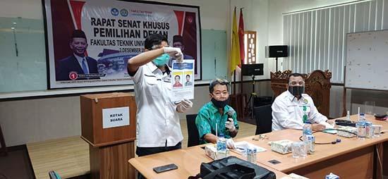Azridjal Aziz Peroleh Suara Terbanyak pada PIldek Fakultas Teknik UNRI 2020 (Sumber: HUMAS Universitas Riau)