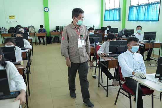 Jumlah Peserta UTBK-SBMPTN Tahun 2021 Meningkat (Sumber: HUMAS Universitas Riau)