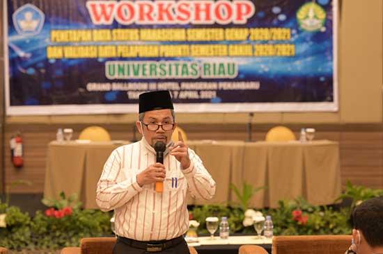 Validasi Data Akurat Melalui Pengelolaan Aplikasi yang Optimal (Sumber: HUMAS Universitas Riau)